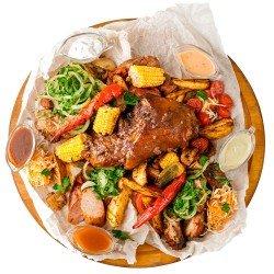 М'ясна тарілка XXL з овочами-гриль