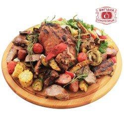 М'ясна дошка XXL з овочами-гриль